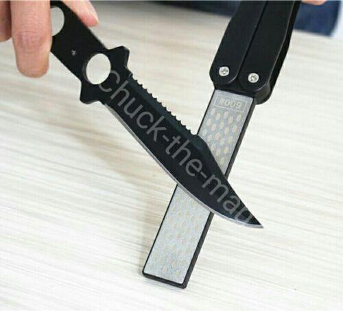 Folding 400/600 Grit Diamond Pocket Knife Sharpener / Double
