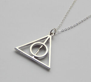 Harry Potter Deathly Hallows Silver Necklace