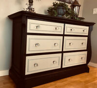 Beautiful Re-Vamped 6 Drawer Dresser/Sideboard/ TV Stand