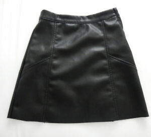 FAUX LEATHER SKIRT $10