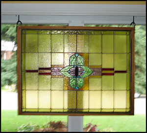 Antique Stained Glass window (39 x 30)
