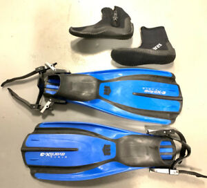 Scuba and Snorkeling Fins and Neoprene Booties Size 7