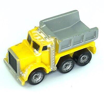 Micro Machines Dump Truck Diesel Kenworth Yellow Gray Big Rig Auto Work Vehicle