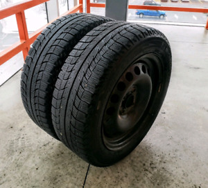 Sets of two winter tires. 185/60/15+4x100 rims & 195/60/15