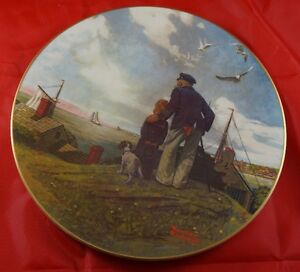 LOOKING OUT TO SEA a Norman Rockwell Limited Edition Plate