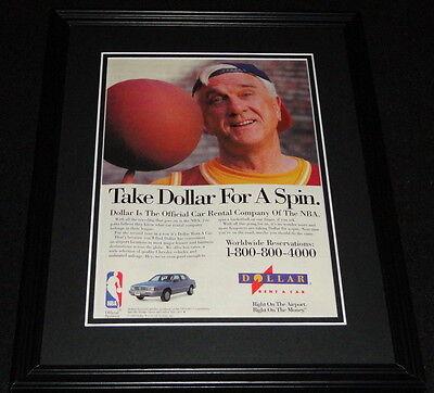 Leslie Nielsen 1993 Dollar Rent A Car 11X14 Framed Original Advertisement