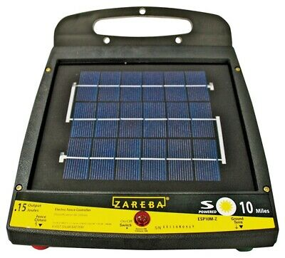 New Zareba Esp10m-z 10-mile Solar Low Impedance Fence Charger 6841316