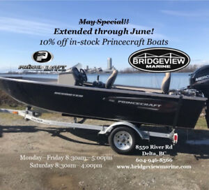 Princecraft Boats on sale!! Extended through June!!