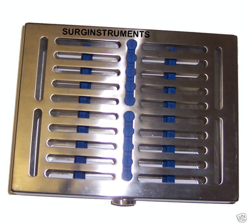 """Sterilization Cassette 7.25"""" X 5.50"""" Surgical Dental, Medical Lab. Instruments"""