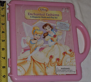 Qty 2 x Disney Princess Fashions - Magnetic Book and Play Sets