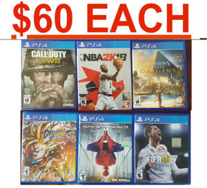 PS4 Games($60 EACH) NBA 2K18 - COD WW2 - Assassins Creed Origins
