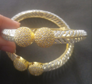 Gold plated casting bangles