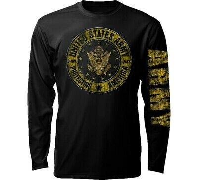 - US Army LONG SLEEVE T-Shirt Vintage Since 1775 Infantry Armor Airborne Engineer