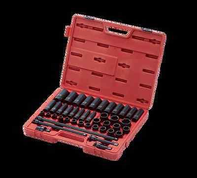 "Sunex Tools 2569 43 Pc 1/2"" Dr. Metric Master Impact Socket Set"