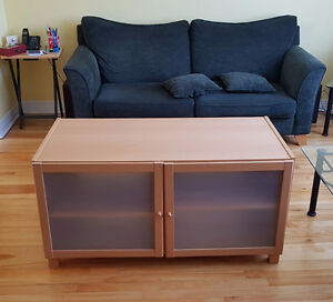 TV, Sound system unit with glass doors
