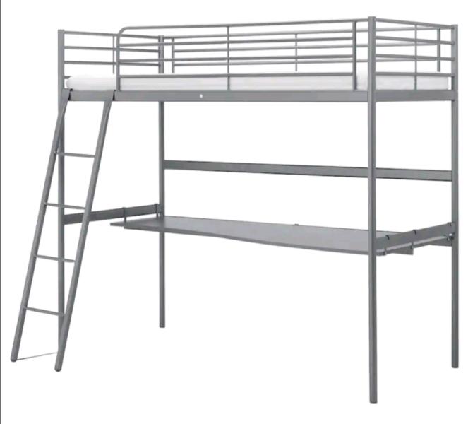 Ikea loft bed with study desk | Beds | Gumtree Australia