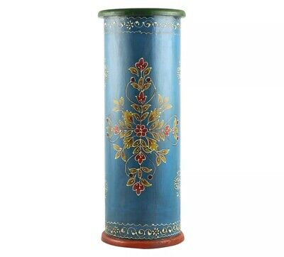 Handpainted Cylindrical solid Wood with Traditional Umbrella Stand - Timbergirl ()