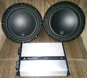 2-10 jl audio subs and amp.