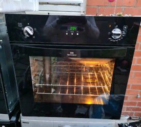 NEWWORLD SINGLE BUILT IN ELECTRIC OVEN 60CM WIDTH BLACK