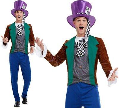 Herren Mad Hatter Kostüm Erwachsene Hatter von Smiffys