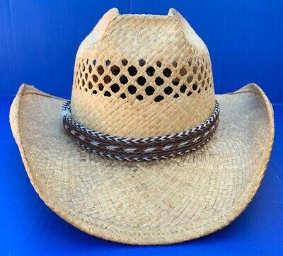 Western Decor Cowboy HAT BAND 7 Strand Brown/Black/White Horsehair