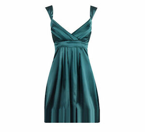 BRAND NEW Christmas Green Satin Dress Le Château Kitchener / Waterloo Kitchener Area image 1