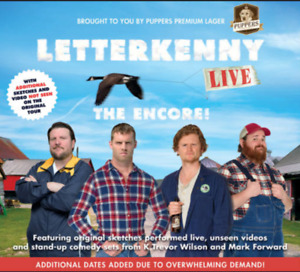 Letterkenny Live Tickets- Great seats for night!