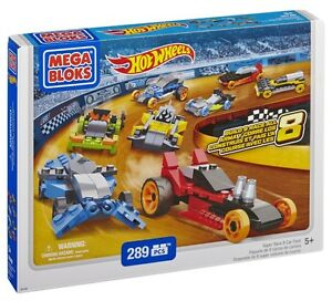 Mega Bloks Hot Wheels Super Race Set (8 Cars Pack) 91743 289 PCS