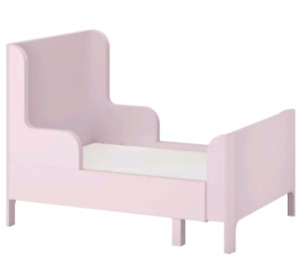 Girls bed (pink) - new like condition