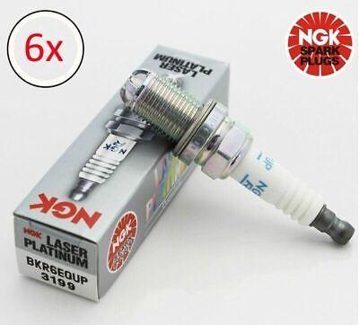NGK Spark Plug  BKR6EQUP 3199 (x6 Plugs)  Fits BMW E46 320i  - 330i  12120037607