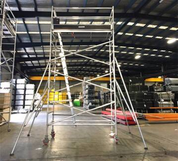 5m Double Width Mobile Tower Scaffold