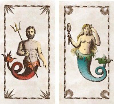 HomArt - Match Box Set of 2 - Mermaid & Neptune