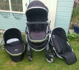Icandy peach blossom 2 double pushchair