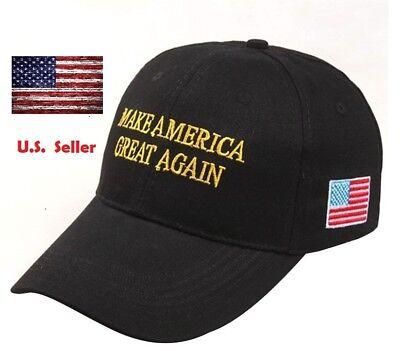 President Donald Trump Make America Great Again Hat Us Republican Cap Black Gold