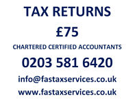 Tax Returns for £75, Companies Accounts for £100 - Quality services at low cost