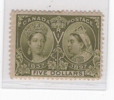Canada #65 Mint F-VF OG Hinged Crease Thin  (JH 5/26/21) GP