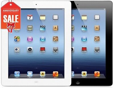 Apple iPad 3 WiFi + GSM Unlocked | Black or White | 16GB 32GB 64GB I GREAT (U)