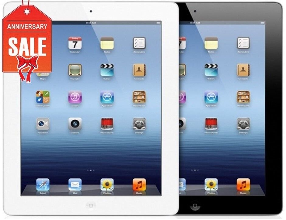 Apple iPad 3 WiFi + GSM Unlocked | Black or White | 16GB 32GB 64GB I GREAT