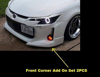 New Scion TC 14-16 Custom Front Bumper Lip Spoiler Fiberglass 2pcs