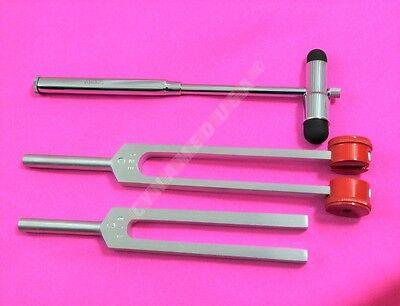 Tuning Fork Set Of 3 - C128 C512 Buck Hammer Medical Diagnostic Instruments