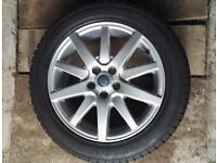 """Jaguar S Type Alloy wheels 17"""" with near new winter tyres (X Type, Mondeo)"""