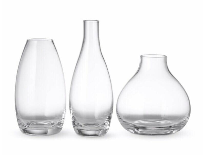 NEW Williams Sonoma Glass Bud Vases, Set of 3