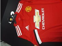 Man Utd Home and Away Jersey 2017/2018 includes free name number printing ironed on