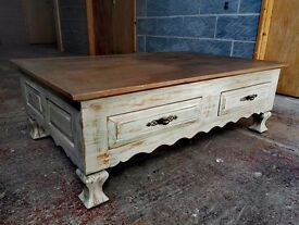 Coffee Table Solid Pine Wood