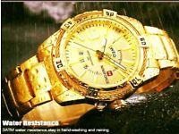 Luxury Watches Top Brand Full Steel Business Waterproof Watch