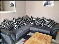 FASTEST DELIVERY ROUTE == SHANNON CHENILLE FABRIC CORNER SOFA OR 3+2 SOFA SET AVAILABLE NOW