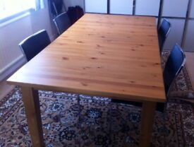 Quality Wooden Table (with or without chairs)