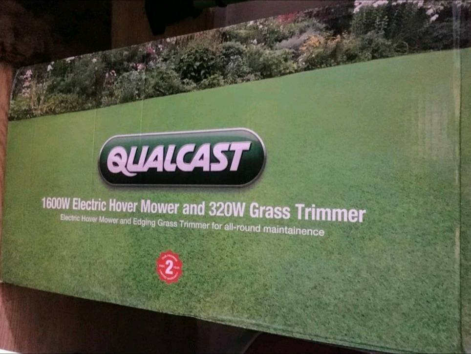 Qualcast Mower and trimmer set. New in box.