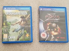 Uncharted: Golden Abyss and Ninja Gaiden Sigma for PS Vita (£12 each, £20 for both) (Eastleigh)