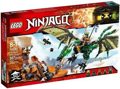 Lego Ninjago 70593 The Green NRG Dragon Building Kit (567-Pieces)